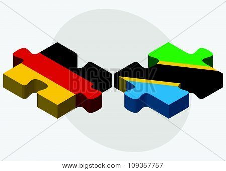 Germany And Tanzania Flags