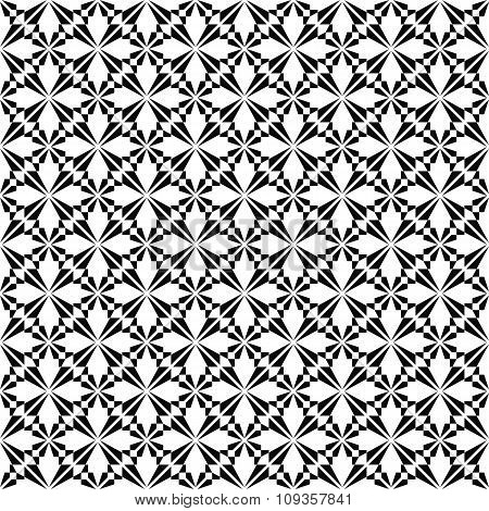 Monochrome seamless geometric pattern