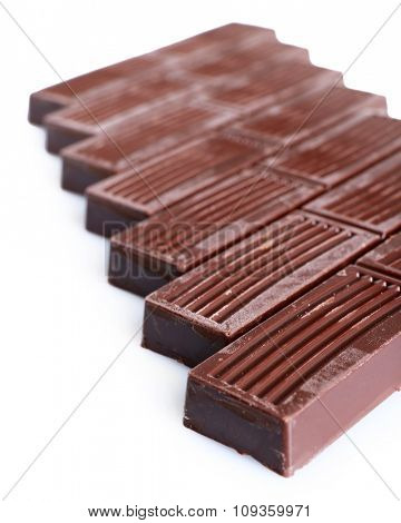 Chocolate sticks on table