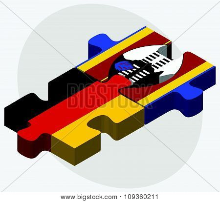 Germany And Swaziland Flags