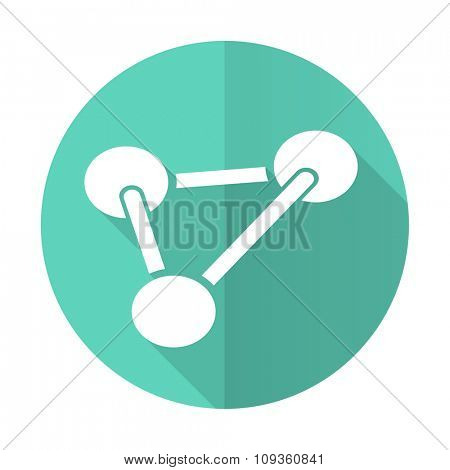 chemistry blue web flat design circle icon on white background