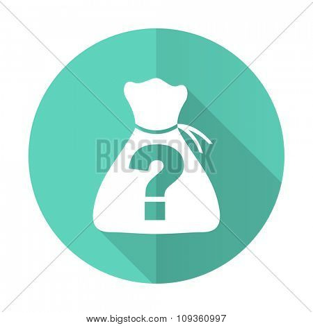 riddle blue web flat design circle icon on white background