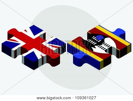United Kingdom And Swaziland Flags