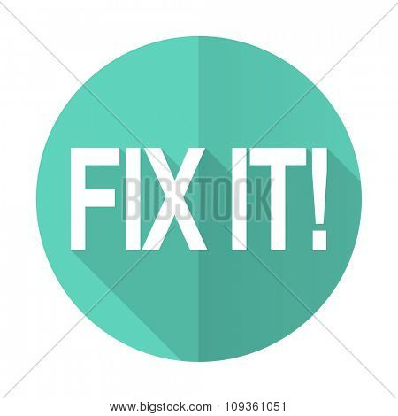 fix it blue web flat design circle icon on white background
