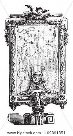Screen, vintage engraved illustration. Industrial encyclopedia E.-O. Lami - 1875.