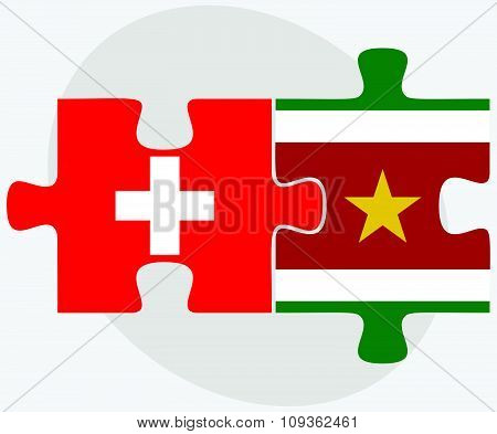 Switzerland And Suriname Flags