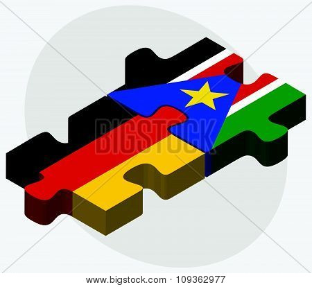Germany And South Sudan Flags