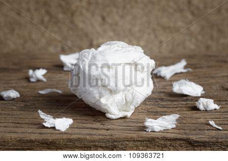Used Paper Tissue