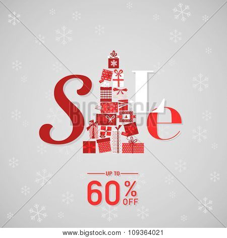 Christmas Sale Poster or Banner - in vector