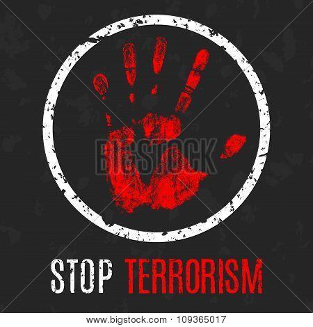 Stop Terrorism Sign