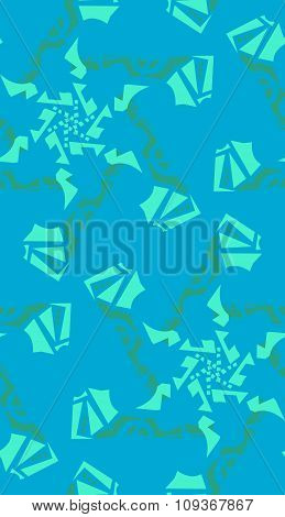 Aqua Kaleidoscope Background