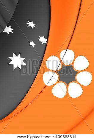 Flag Of Northern Territory, Australia.
