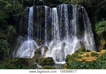 El Nicho Waterfall In Scambray Mountains. Cienfuegos Province, Cuba.