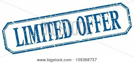 Limited Offer Square Blue Grunge Vintage Isolated Label