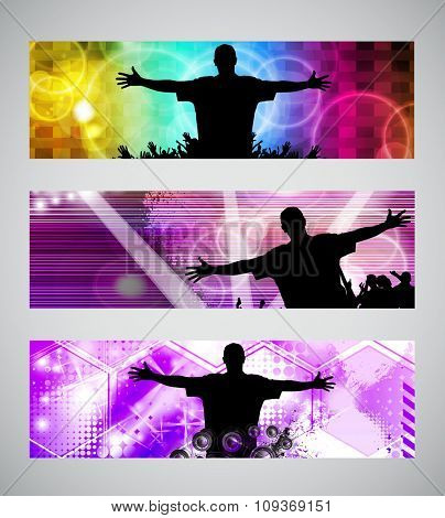 Dancing background party, vector