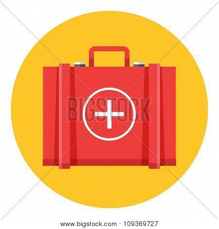 Medical bag icon vector