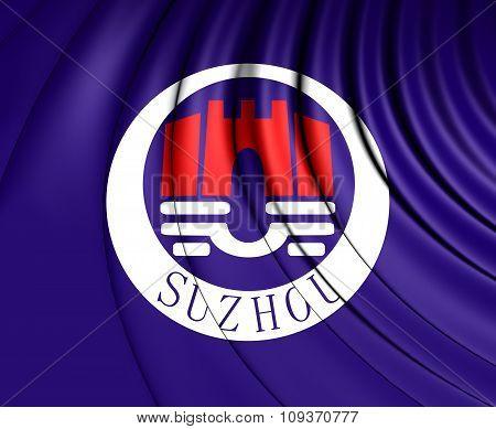 Flag Of Suzhou, China.