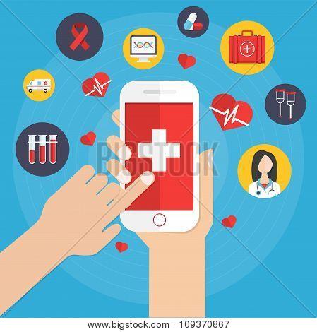 Health application on smartphone