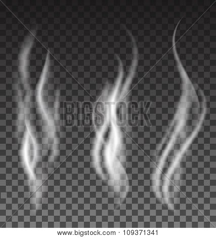 White Smoke Set On Translucent Background