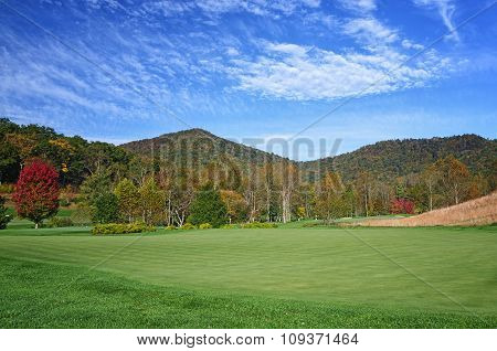 Golf Course Fall Foliage