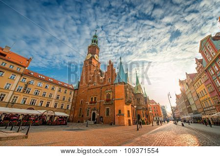 Town Hall on the market square in Wroclaw