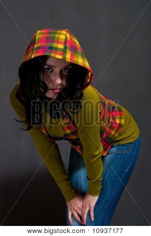 Girl In Squared Waistcoat