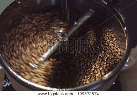 Coffee Machine Drying The Coffee Beans