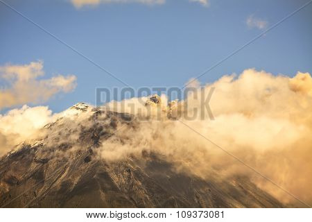 Ash And Steam From The Tungurahua Volcano