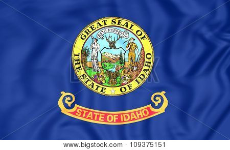 Flag Of Idaho, Usa.