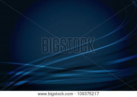 Navy Blue Background With Wavy Lines