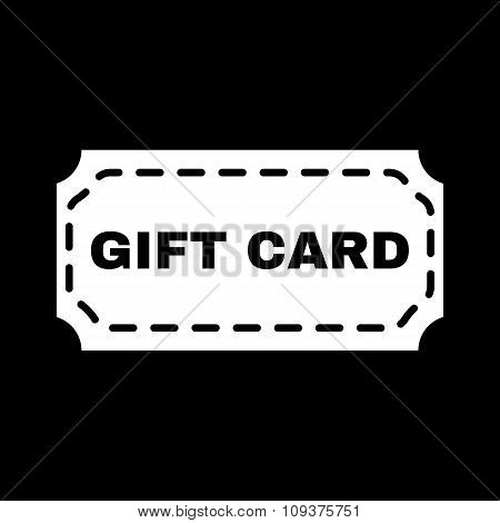 The gift card icon. Coupon and discount , offer symbol. Flat