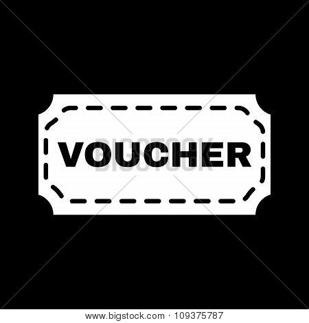 The voucher icon. Coupon and gift, offer, discount symbol. Flat