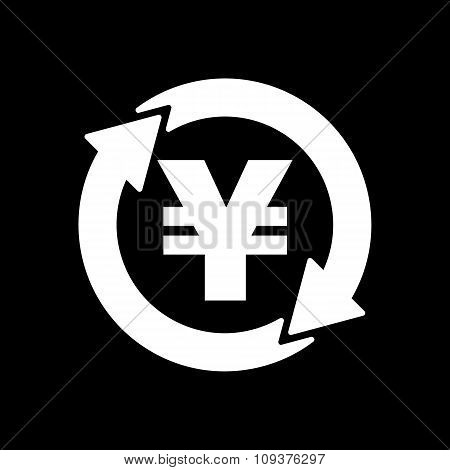 The currency exchange yen icon. Cash and money, wealth, payment symbol. Flat