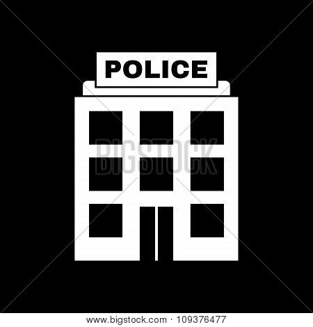 The police icon. Law and authority symbol. Flat