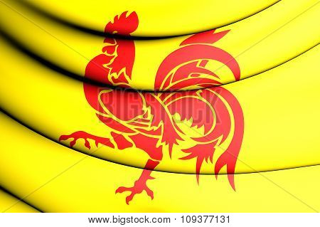 Flag Of Wallonia Region, Belgium.