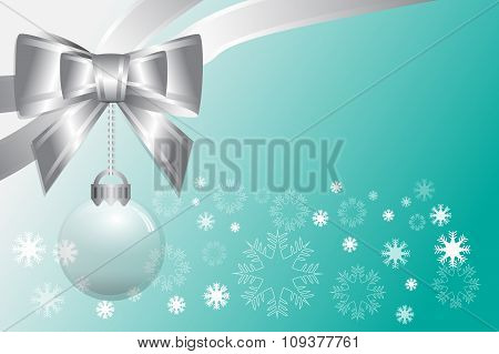 Abstract Christmas Gradient Green Background
