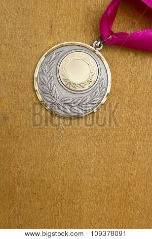 Sport Medal With Red Ribbon