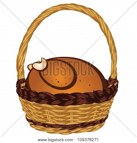 Roasted Turkey In A Basket