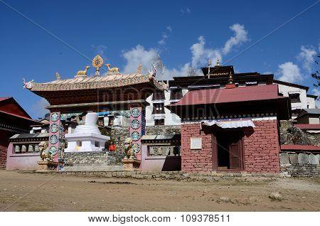 ate of Thyangche Dongak Thakchok Chholing buddhist monastery,in Tengboche Solukhumbu,Nepal
