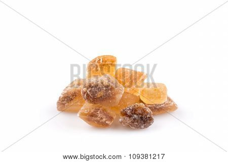 Brown Caramelized Lump Cane Sugar Cube