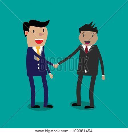 Businessmans shaking hands