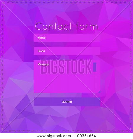 Simple violet contact us form templates.