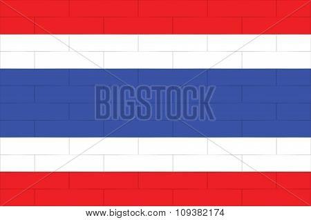 Thailand Flag In Art Design  Vector Illustration 4