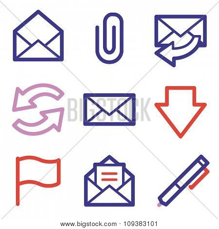 E-mail web icons