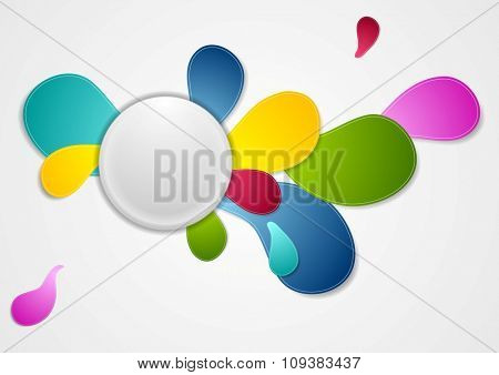 Colorful wavy drop shapes abstract background. Vector design