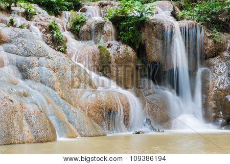 Waterfall In The Rainy Season
