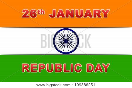 Indian Republic Day Vector Illustration with Ashoka Chakra