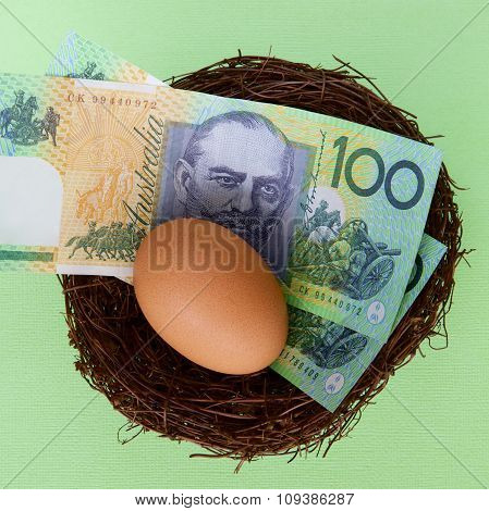 Australian Dollars in a Nest