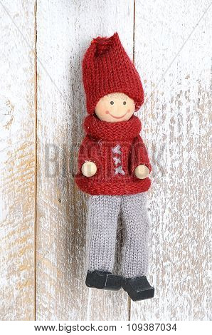 Knitted Small Christmas Handmade Doll