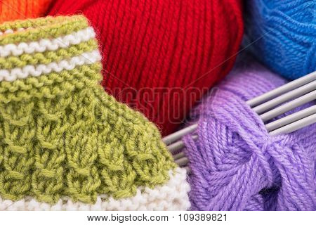Bright Acrylic Yarn